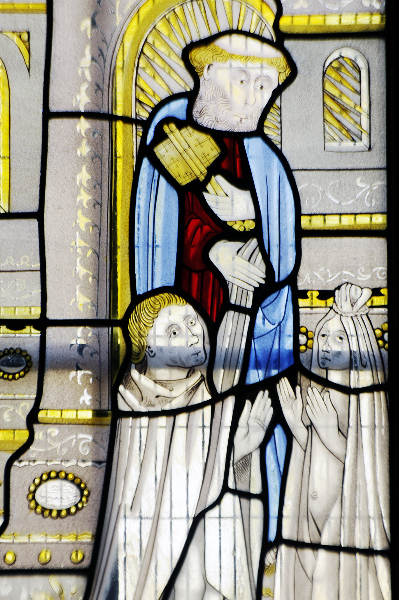 thornhill-st-michael-all-angels-savile-chapel-east-window-2a-detail-of-st-peter-and-two-kn