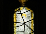 East window of Savile Chapel, nII, tracery, Panel A4, c1493,Church of St. Michael and All Angels, Thornhill, Wakefield.Commissioned by Anna Eavis with Jonathan and Ruth Cooke Ltd (Stained Glass Conservation).