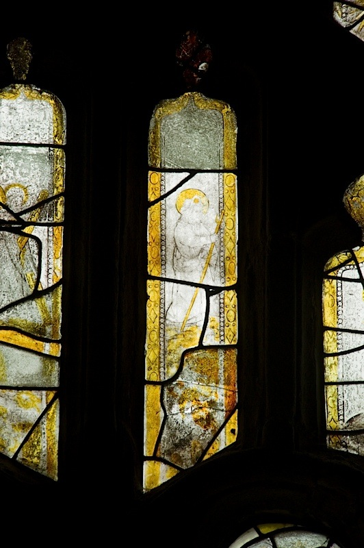 East window of Savile Chapel, nII, tracery, Panel A3, c1493,Church of St. Michael and All Angels, Thornhill, Wakefield.Commissioned by Anna Eavis with Jonathan and Ruth Cooke Ltd (Stained Glass Conservation).