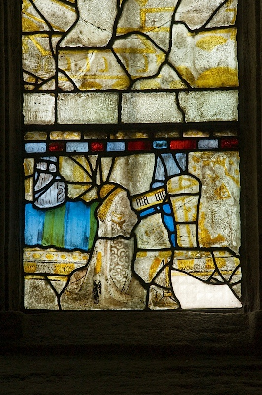 East window of Savile Chapel, nII, Panel 1d, c1493,Church of St. Michael and All Angels, Thornhill, Wakefield.Commissioned by Anna Eavis with Jonathan and Ruth Cooke Ltd (Stained Glass Conservation).