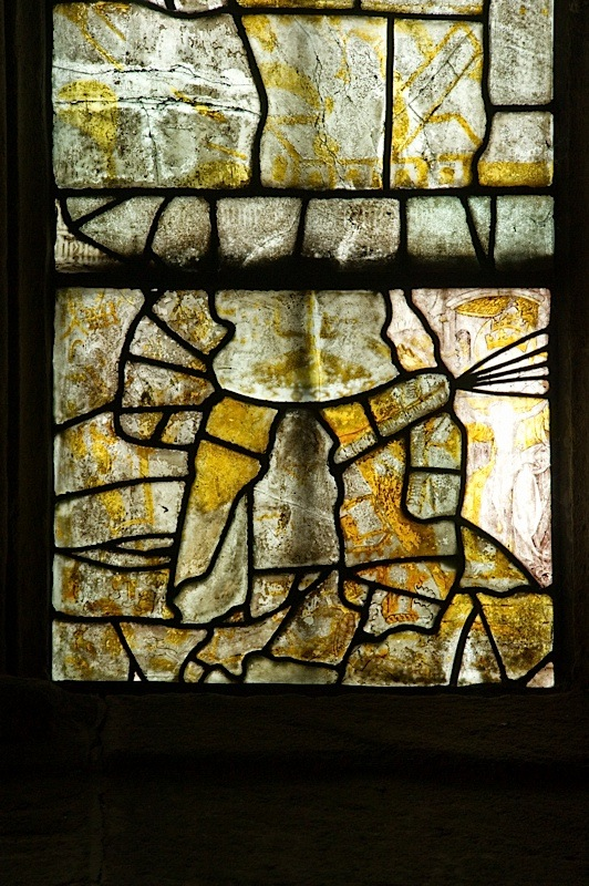 East window of Savile Chapel, nII, Panel 1e, c1493,Church of St. Michael and All Angels, Thornhill, Wakefield.Commissioned by Anna Eavis with Jonathan and Ruth Cooke Ltd (Stained Glass Conservation).