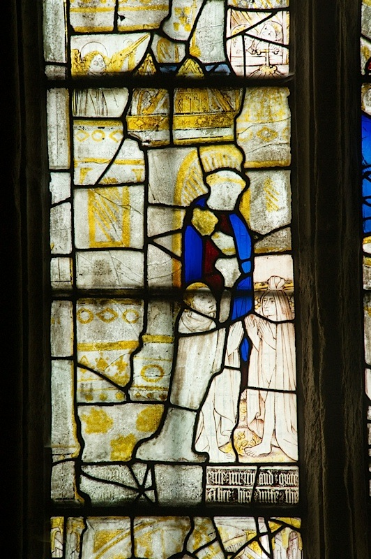East window of Savile Chapel, nII, Panel 2a, c1493,Church of St. Michael and All Angels, Thornhill, Wakefield.Commissioned by Anna Eavis with Jonathan and Ruth Cooke Ltd (Stained Glass Conservation).