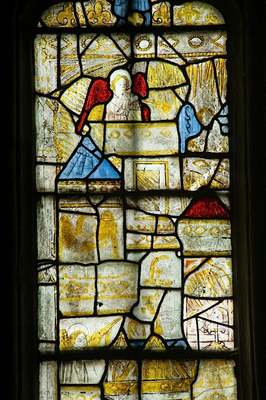 East window of Savile Chapel, nII, Panel 3a, c1493,Church of St. Michael and All Angels, Thornhill, Wakefield.Commissioned by Anna Eavis with Jonathan and Ruth Cooke Ltd (Stained Glass Conservation).