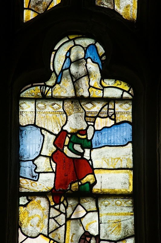 East window of Savile Chapel, nII, Panel 4b, c1493,Church of St. Michael and All Angels, Thornhill, Wakefield.Commissioned by Anna Eavis with Jonathan and Ruth Cooke Ltd (Stained Glass Conservation).