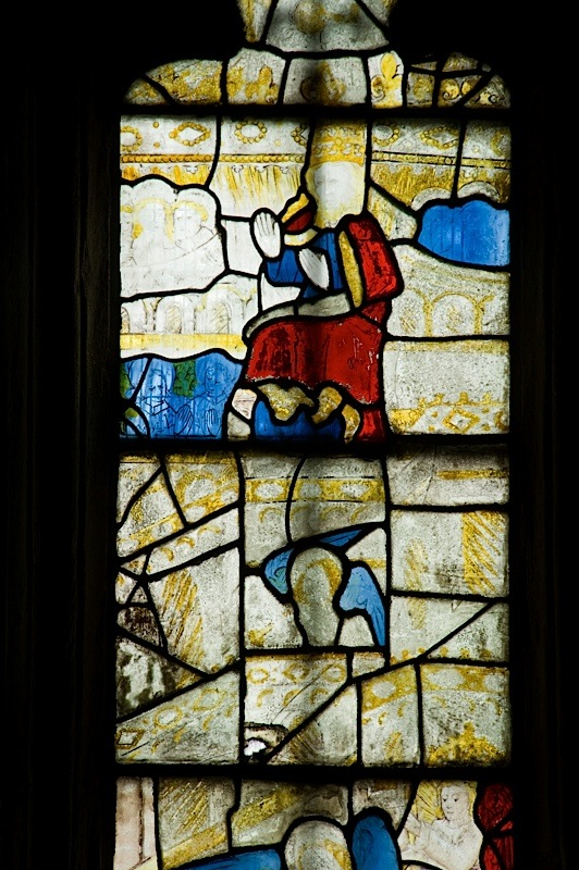 East window of Savile Chapel, nII, Panel 3c, c1493,Church of St. Michael and All Angels, Thornhill, Wakefield.Commissioned by Anna Eavis with Jonathan and Ruth Cooke Ltd (Stained Glass Conservation).