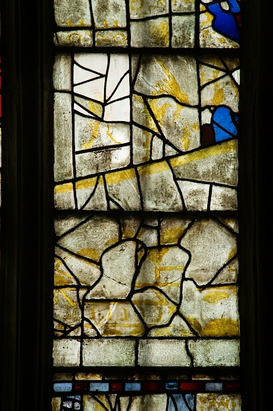 East window of Savile Chapel, nII, Panel 2d, c1493,Church of St. Michael and All Angels, Thornhill, Wakefield.Commissioned by Anna Eavis with Jonathan and Ruth Cooke Ltd (Stained Glass Conservation).