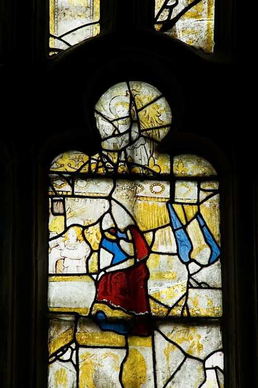 East window of Savile Chapel, nII, Panel 4d, c1493,Church of St. Michael and All Angels, Thornhill, Wakefield.Commissioned by Anna Eavis with Jonathan and Ruth Cooke Ltd (Stained Glass Conservation).