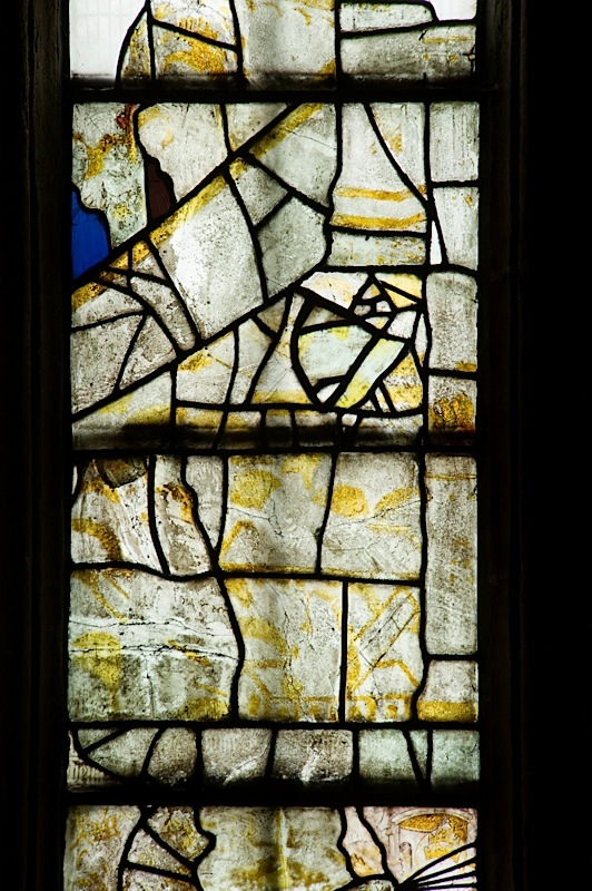 East window of Savile Chapel, nII, Panel 2e, c1493,Church of St. Michael and All Angels, Thornhill, Wakefield.Commissioned by Anna Eavis with Jonathan and Ruth Cooke Ltd (Stained Glass Conservation).